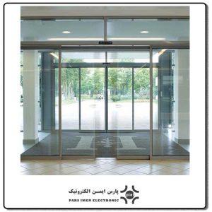 درب-شیشه-ای-اتوماتیک-کشویی-لابل-مدل-EVOLUS-150